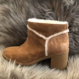 UGG Kasen heeled boots in chestnut